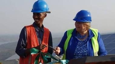 I sommer åpnet Erna Solberg Scatec Solars solkraftverk i Rwanda, delvis finansiert av Norfund.