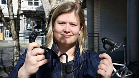 Hun er frastjålet  9 sykler på 4 år