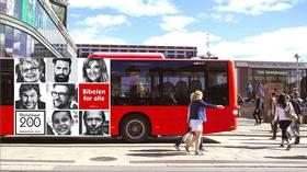 Nå skal bussene kjøre rundt med bibelvers